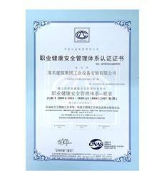 石油化工机电施工总包OHSMS18001