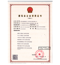 各类工程资质综合证书