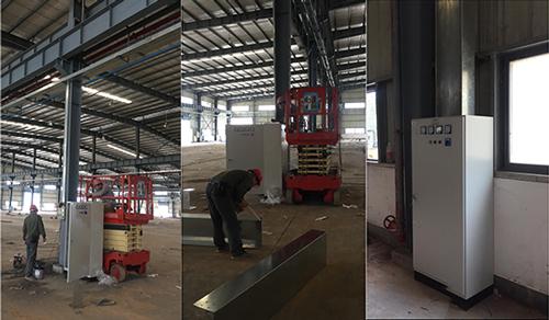 鹤山SDB斯帝博水电气安装工程-电柜现场安装过程