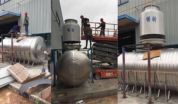 鹤山SDB斯帝博水电气安装工程-冷却塔安装过程