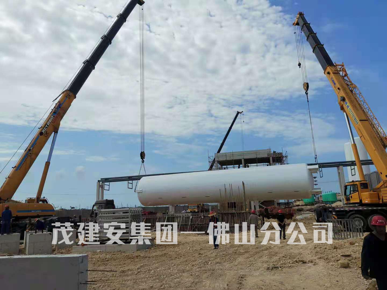 广西广盛料科技有限公司天然气气化站项目进度更新