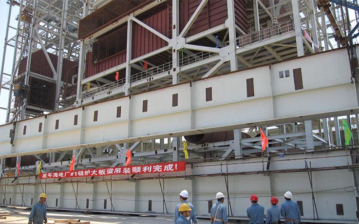 锅炉钢结构大板梁吊装